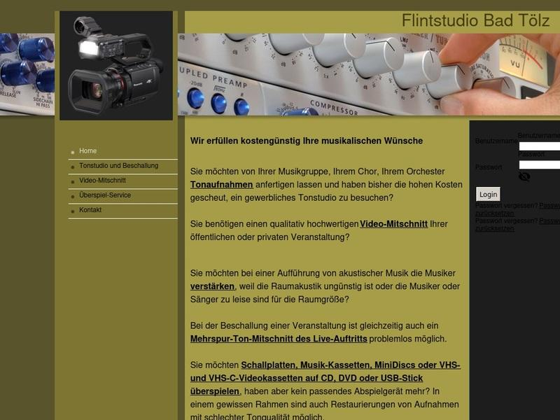 Screenshot von www.flintstudio-bad-toelz.de